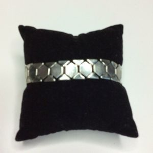 Coro Vintage Silver Tone Flexible Link Bracelet